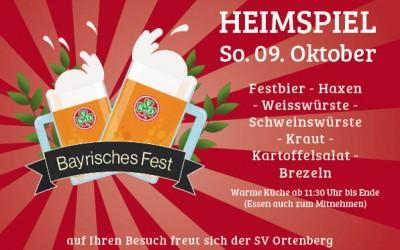 Bayrisches Fest am 09.10.