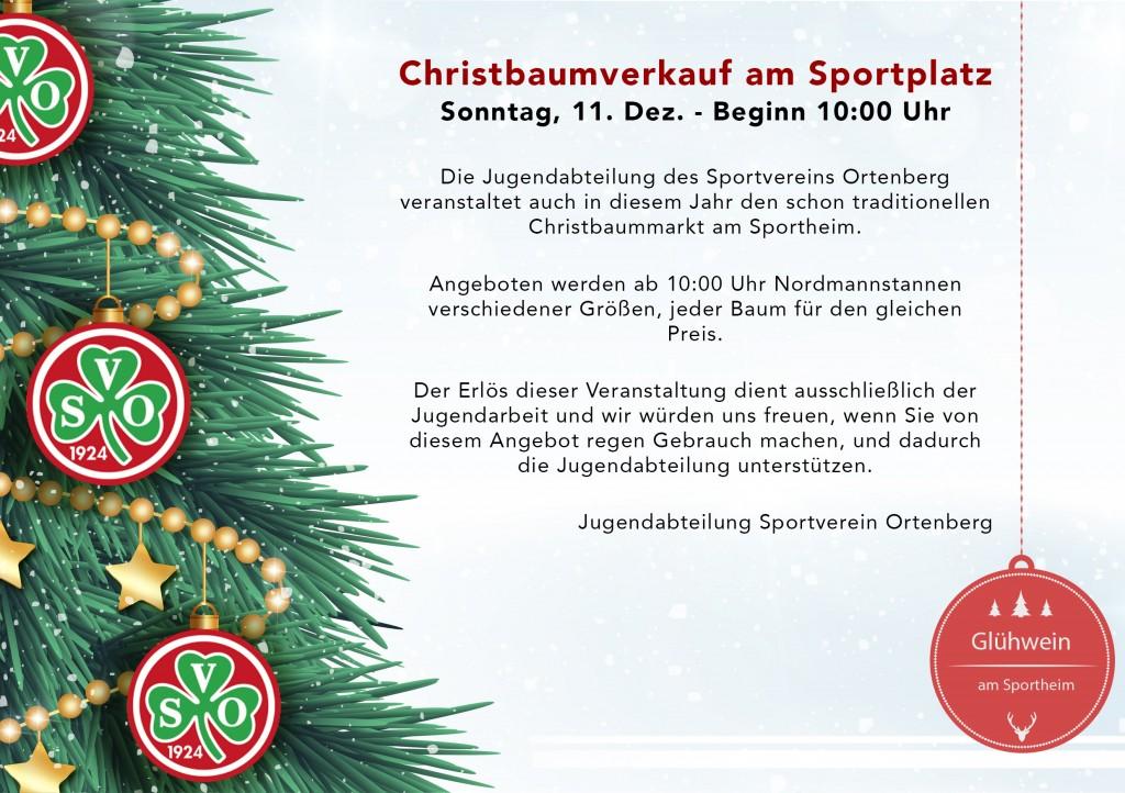 Christbaumverkauf am Sportplatz
